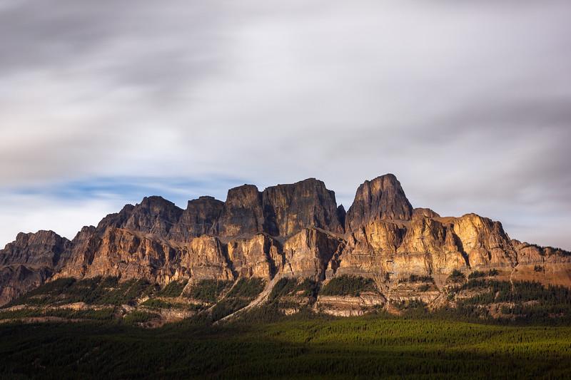 Castle Mountain Sunset