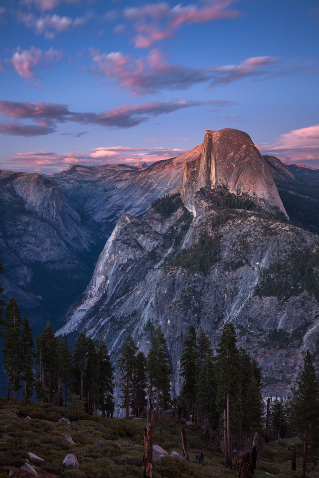 Nightfall over Half Dome