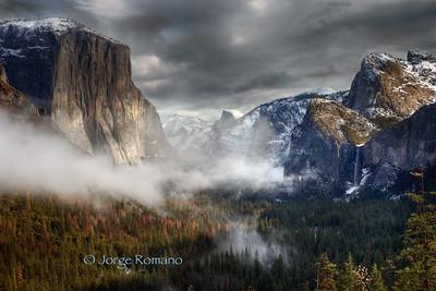 Yosemite Valley Morning With Fog