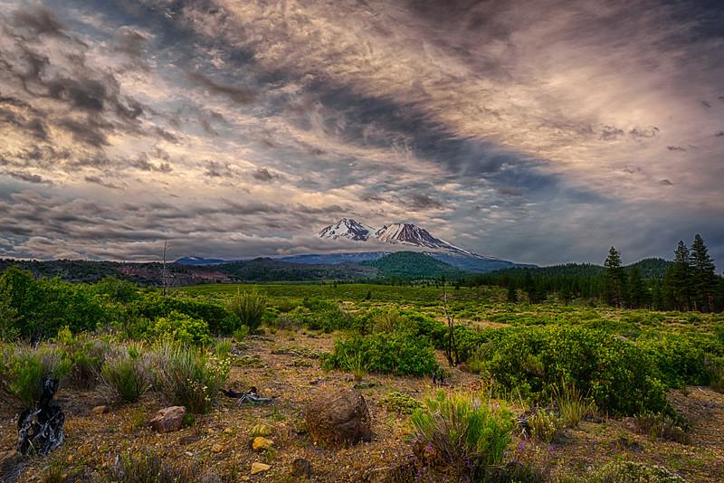 Beautiful Uncooperative Clouds, Mt. Shasta, California, 6-June-2020