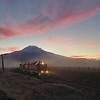 Sunrise along the spur line, Mt. Shasta, 16-November-2020