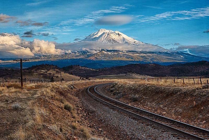Mount Shasta Sunset - 4 January 2020