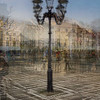 A 8-shot multiexposure of Lucerne's street lamps