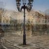 A 8-shot multiexposure of Lucerne's street lamps