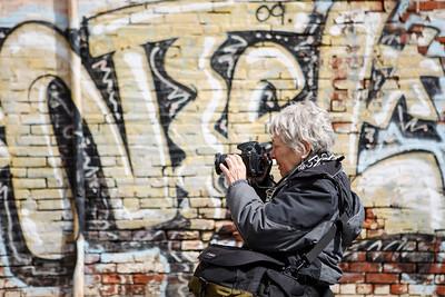 Martha Cooper photographs graffiti along the northeast rail corridor. NTEL frames the shot.