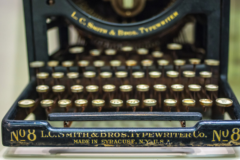 Antique Typewriter, Joliet Historiical Museum, Joliet, Illinois