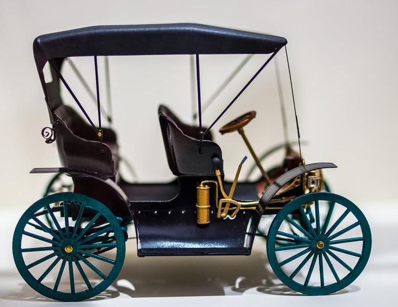 Miniature Model of Old Car, Joliet Historical Museum, Joliet, Illinois