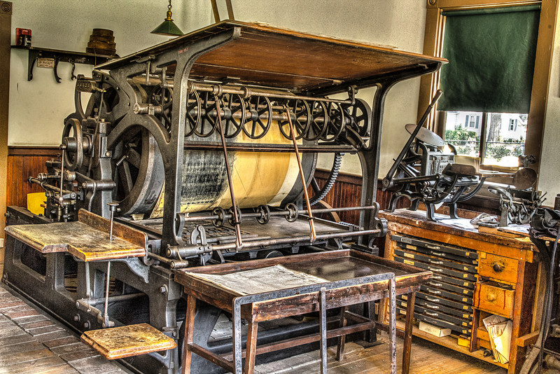 This is a printing press from the late 1800's.