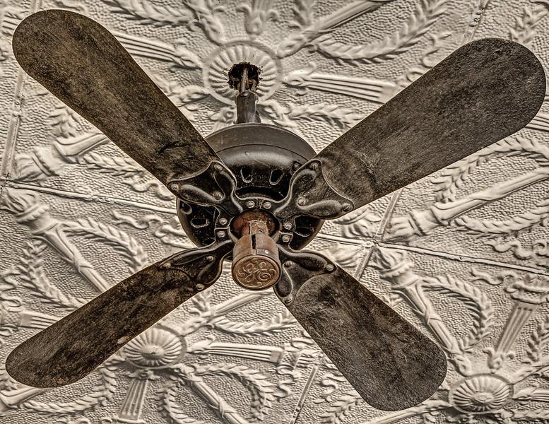 Antique Black Ceiling Fan, Naper Settlement, Naperville, Illinois