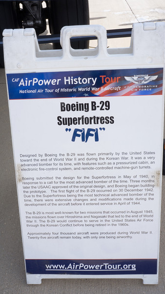 """After the Wheels and Wings museum I drove over to the Rockford Airport to see a B29 bomber Superfortress named """"Fifi"""". I got to go inside and take some pics."""