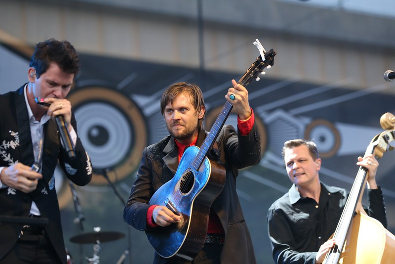 Nashville string band Old Crow Medicine Show performed in front of thousands at the Sawyer Point stage during the second day of the 2015 Bunbury Music Festival at Sawyer Point and Yeatman's Cove in Cincinnati on June 6, 2015. Emily Maxwell | WCPO<br />  Bunbury Music Fest on Sat. June 6, 2015.