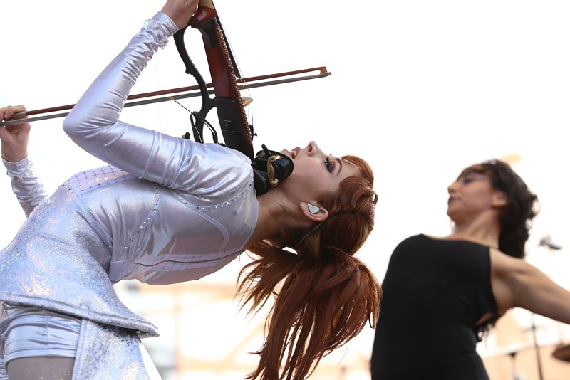 Violinist Lindsey Stirling, who rose to fame for her YouTube videos, performed at the Yeatman's Cove stage during the second day of the 2015 Bunbury Music Festival at Sawyer Point and Yeatman's Cove in Cincinnati on June 6, 2015. Emily Maxwell | WCPO Bunbury Music Fest on Sat. June 6, 2015.
