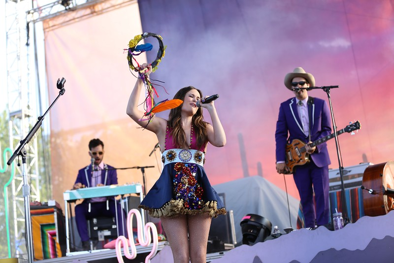 Country artist and Grammy winner Kacey Musgraves performed at the Yeatman's Cove stage during the second day of the 2015 Bunbury Music Festival at Sawyer Point and Yeatman's Cove in Cincinnati on June 6, 2015. Emily Maxwell | WCPO Bunbury Music Fest on Sat. June 6, 2015.