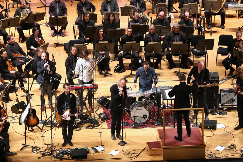 MusicNOW Festival headliners The National performed alongside music director Louis Langrée and the Cincinnati Symphony Orchestra on the third night of the indie music event at Music Hall on Friday, March 13, 2015. Emily Maxwell | WCPO