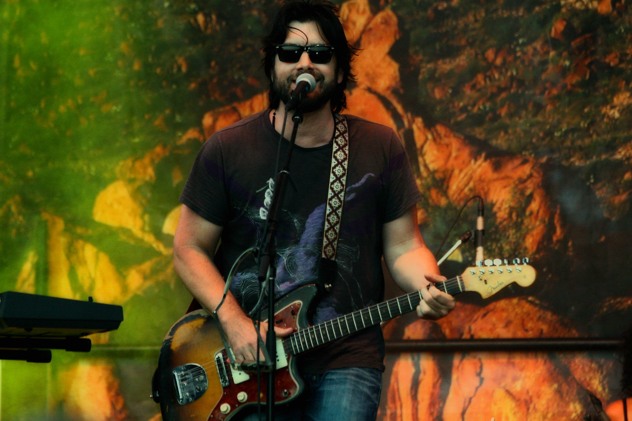 Bob Shneider performing at Blues on the Green in Zilker Park on June 8, 011.