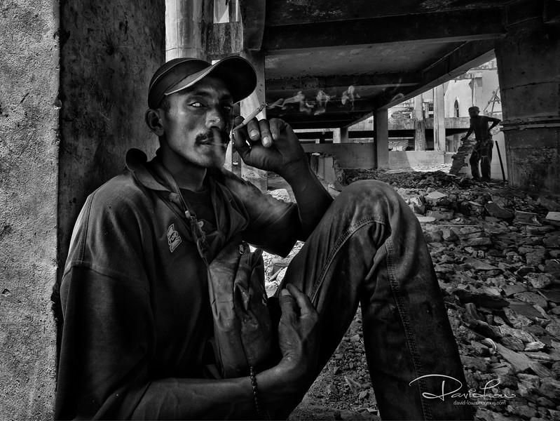 Serious cataract - a construction worker