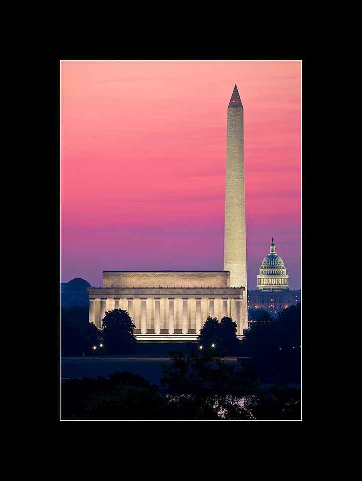 Sunrise over the National Mall, Washington, DC