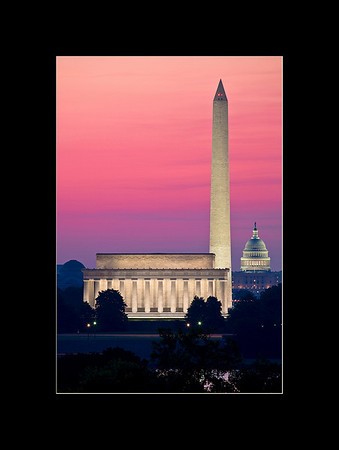 Sunrise over the National Mall, Washington, DC