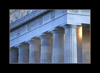 Detail, Lincoln Memorial, Washington DC