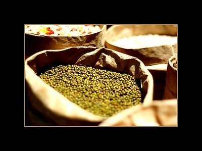 Burlap sacks filled with vegetables, Hoi An, Vietnam