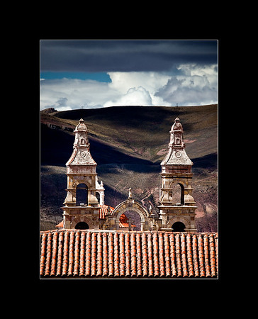 Over the rooftops of Potosi, Bolivia