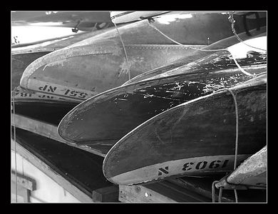 Old Canoes, Georgetown Boat House, Washington DC