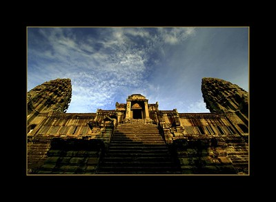Upper Terrace of Angkor Wat at Sunrise, Cambodia