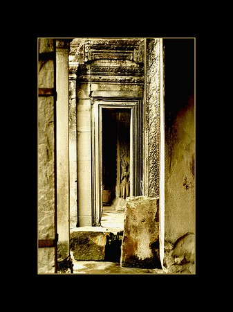Ancient Doorways, Angkor Wat, Cambodia