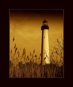 Cape May Lighthouse, New Jersey (Sepia)