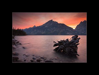 Sunset over Jenny Lake, Grand Teton National Park