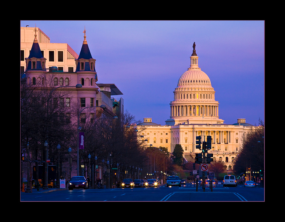 U.S. Capitol at Sunset, Washington, DC