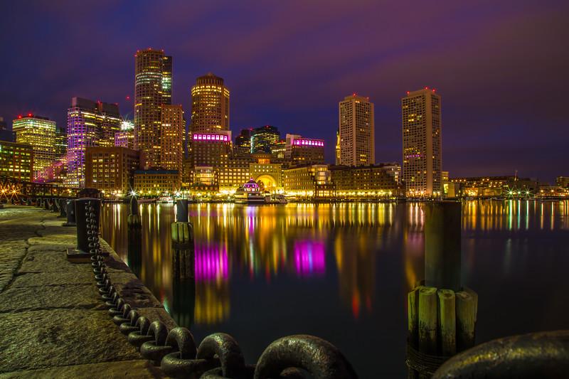 Boston Harbor in morning twilight