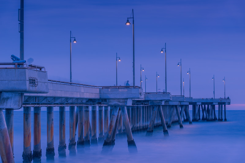 Venice Fishing Pier at Blue Hour