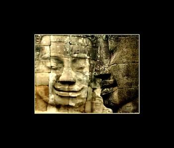 Faces, Bayon, Angkor Thom, Cambodia