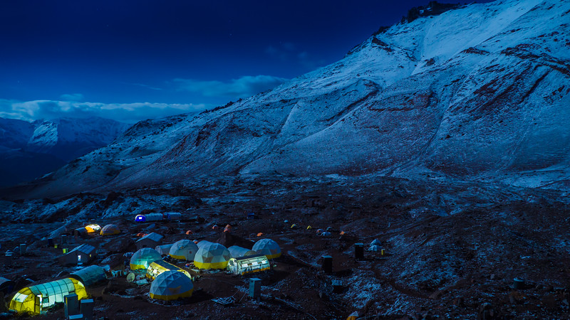 Aconcagua, Base Camp Plaza Argentina