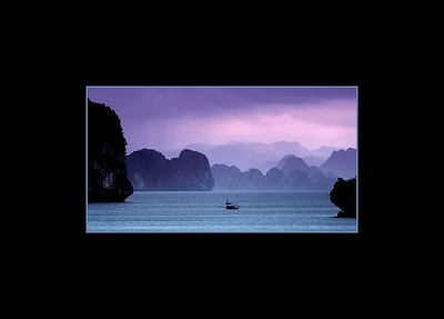 Quiet Sunset Over Ha Long Bay, Vietnam