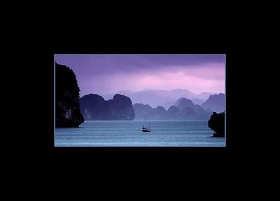 Quiet Sunset Over Ha Long Bay, Vietnam