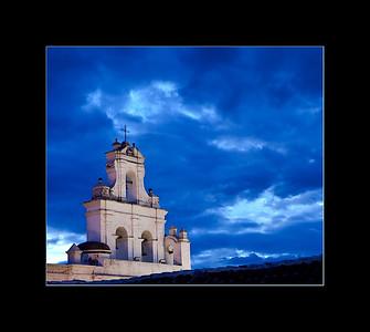 Threatening sky over Sucre, Bolivia