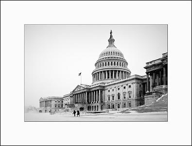 U.S. Capitol in the snow