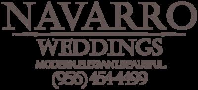 Navarro Weddings Logo with number dark