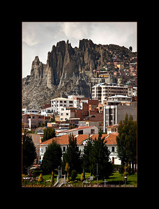 Landscape surrounding La Paz