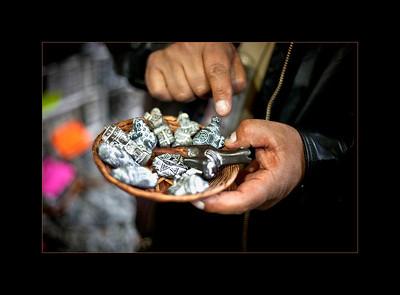 Amulets for sale, Witches' Market, La Paz
