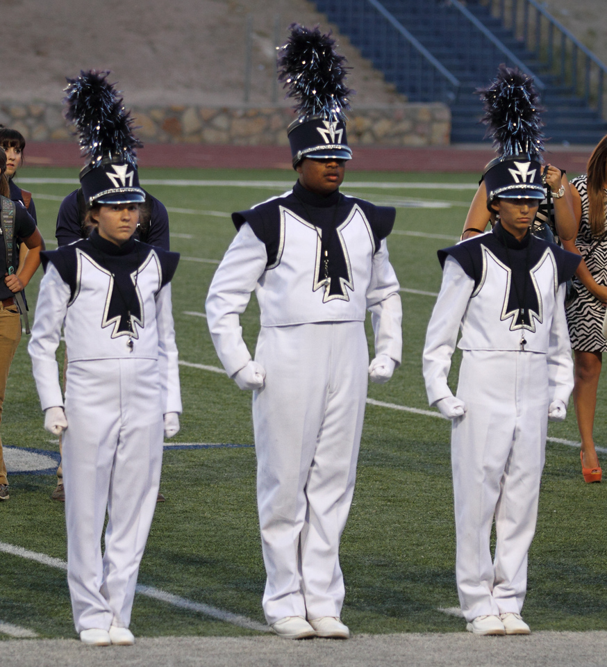 October 6, 2012  Coronado High School Drum Majors at the 2012 EPISD Invitational Marching Contest where they received a 1 (Superior) Rating  From Left to right:  Melissa Mitchell Elvis Mosquera Danielle Chesak