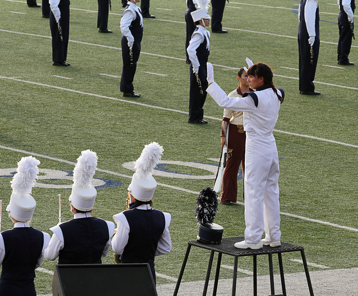 October 6, 2012  Danielle Chesak conducting the Coronado High School marching band at the 2012 EPISD Invitational Marching Contest where they received a 1 (Superior) Rating.