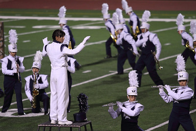 UIL Marching Contest at the SAC, 10/13/12, where they received a Superior (1) rating.  Danielle Chesak (Dano) Watching for transitions in the tempo.