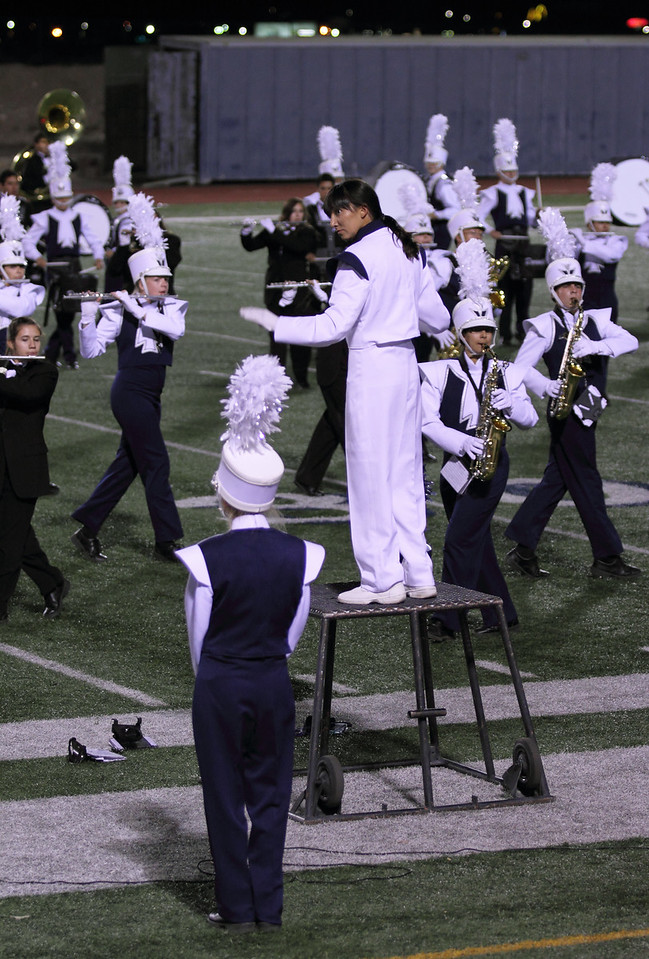 Coronado High School Drum Major, Danielle (Dano) Chesak conducting at their half-time show on 10/19/2012 - Senior Night
