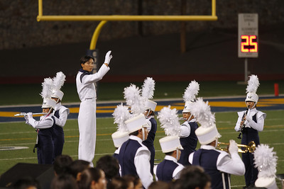 Coronado High School Drum Major, Danielle (Dano) Chesak conducting at their first half-time show - 9/8/12