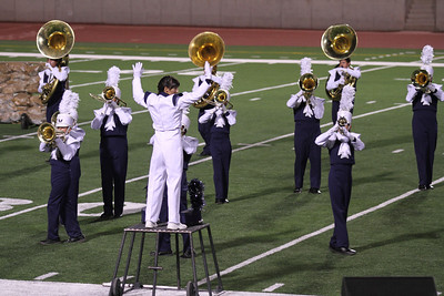 UIL Marching Contest at the SAC, 10/13/12, where they received a Superior (1) rating.  Danielle Chesak (Dano) conducting from the left side of the field.
