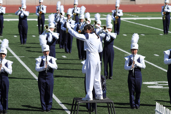 Coronado High School Drum Major, Danielle (Dano) Chesak conducting at the 2012 SISD Marchfest on 10/20/2012