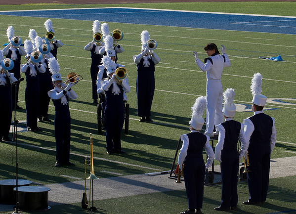 Danielle Chesak conducting the band at the 2013  EPISD Invitational Marching Contest.
